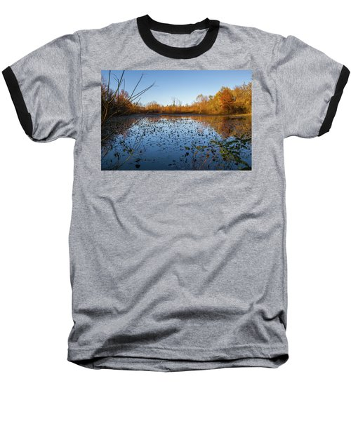 Water Lily Evening Serenade Baseball T-Shirt