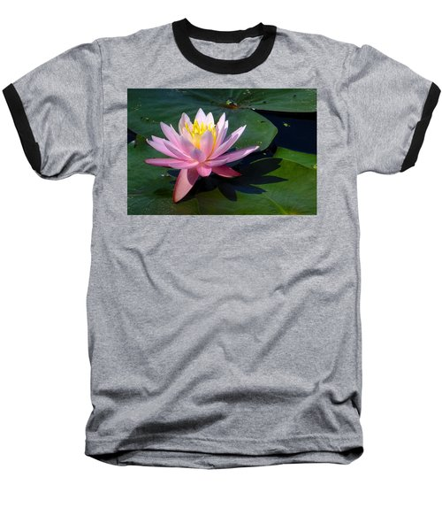 Water Lily In Mountain Lake Baseball T-Shirt