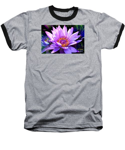 Water Lily In Purple Baseball T-Shirt by Jeannie Rhode
