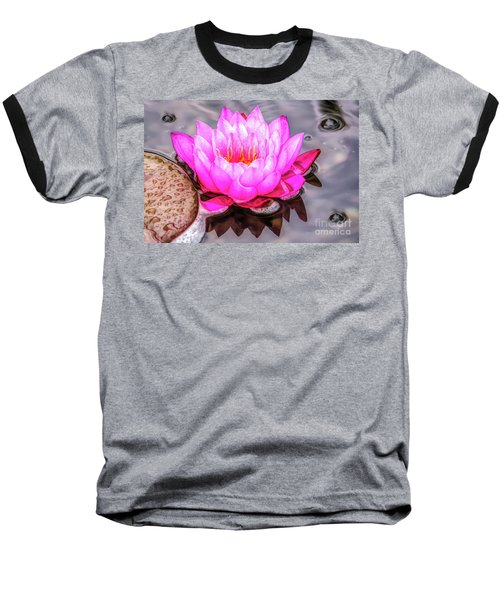 Water Lily In The Rain Baseball T-Shirt