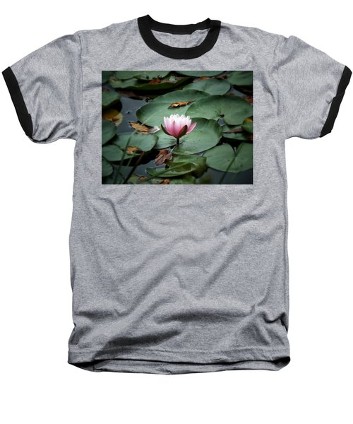 Water Lily Baseball T-Shirt by Karen Stahlros