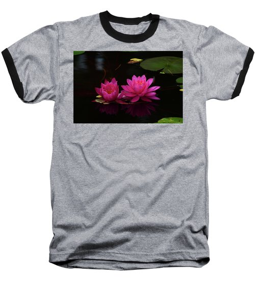 Water Lily Baseball T-Shirt by Nancy Landry
