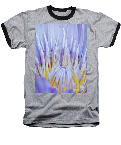 Water Lily Nature Fingers Baseball T-Shirt by Carol F Austin