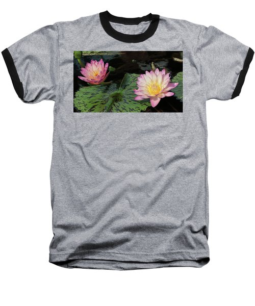 Water Lily Pair Baseball T-Shirt