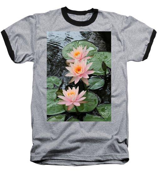 Water Lily Trio Baseball T-Shirt