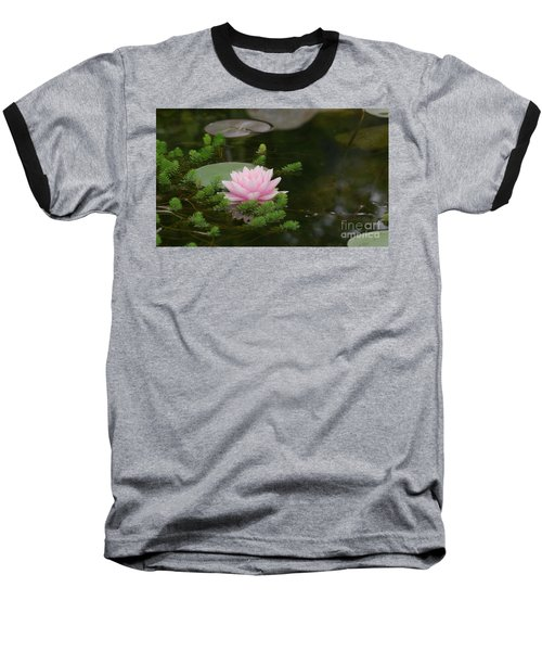 Water Lily Baseball T-Shirt by Victor K