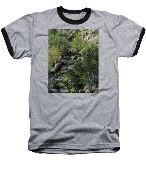 Baseball T-Shirt featuring the photograph Water Logged by Nancy Marie Ricketts