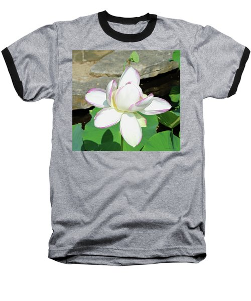 Water Lotus Baseball T-Shirt by Inspirational Photo Creations Audrey Woods