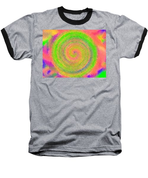 Baseball T-Shirt featuring the digital art Water Melon Whirls by Catherine Lott