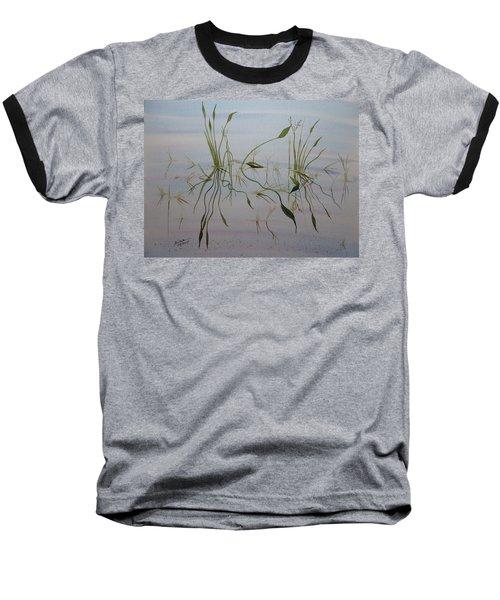 Baseball T-Shirt featuring the painting Water Music by Joel Deutsch