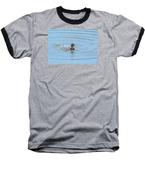 Water Off A Ducks Back Baseball T-Shirt by Allan Levin