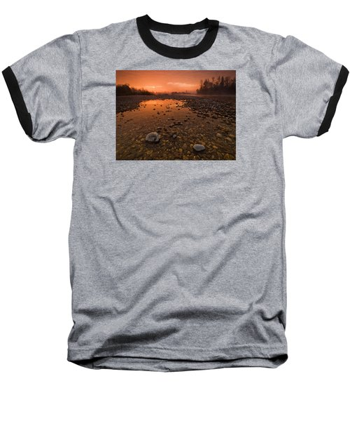Water On Mars Baseball T-Shirt by Davorin Mance