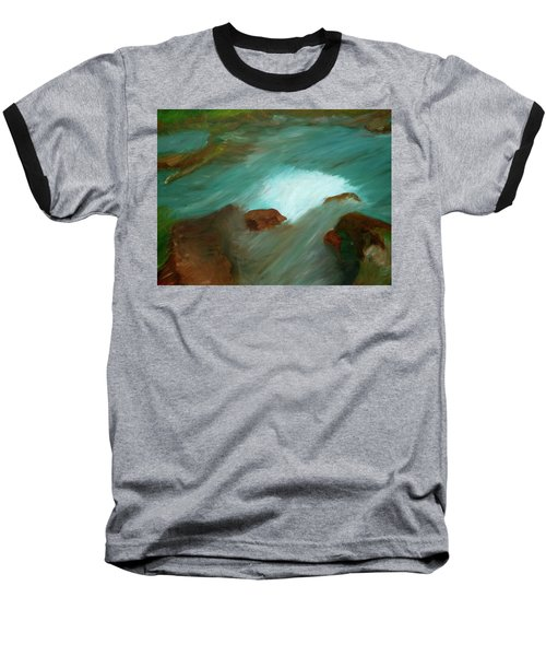 Water Over The Rocks Baseball T-Shirt