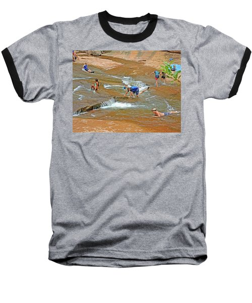 Water Play 3 Baseball T-Shirt