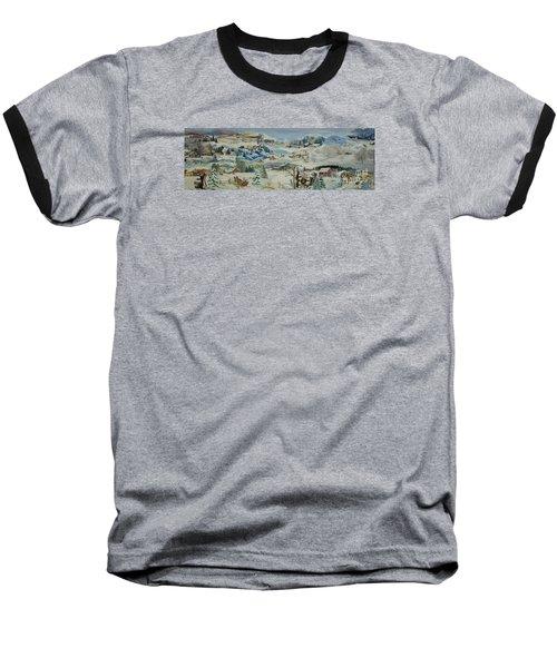 Water Pump In Winter - Sold Baseball T-Shirt by Judith Espinoza
