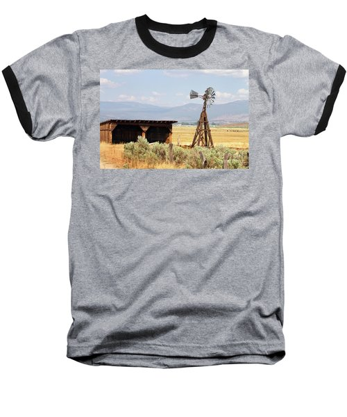 Water Pumping Windmill Baseball T-Shirt