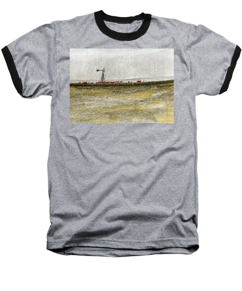 Water, Ranching, And Cattle Baseball T-Shirt by R Kyllo
