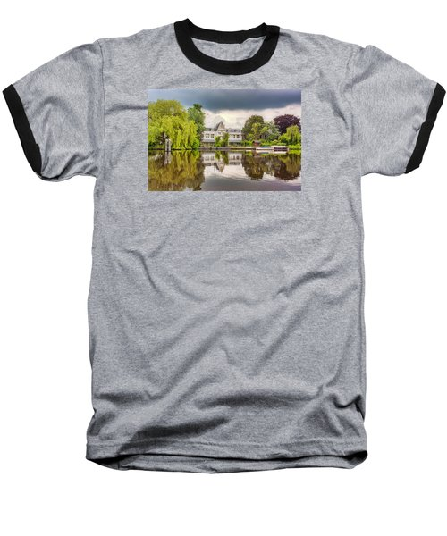 Water Reflections Baseball T-Shirt by Nadia Sanowar