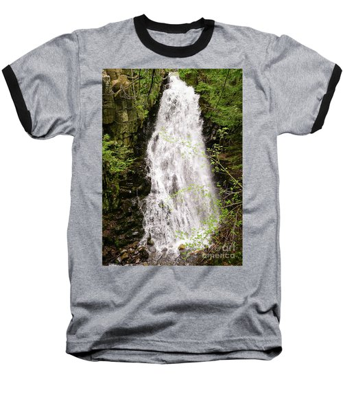 Water Roaring Down Cascade Falls, Farmington, Maine  -30377 Baseball T-Shirt
