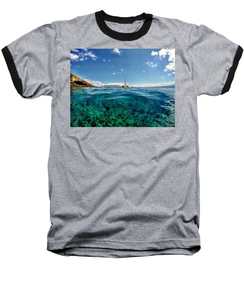 Water Shot Baseball T-Shirt by Michael Albright