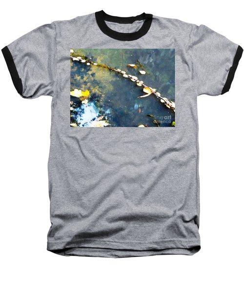 Water, Sky, Stick Baseball T-Shirt by Melissa Stoudt