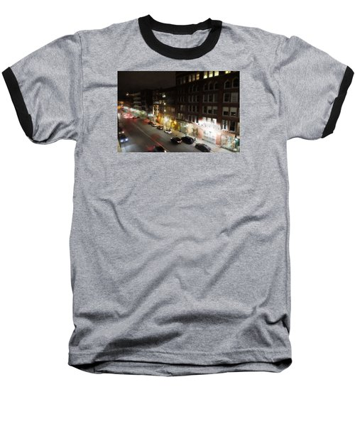 Water Street Looking South From The Marshall Building Baseball T-Shirt by David Blank