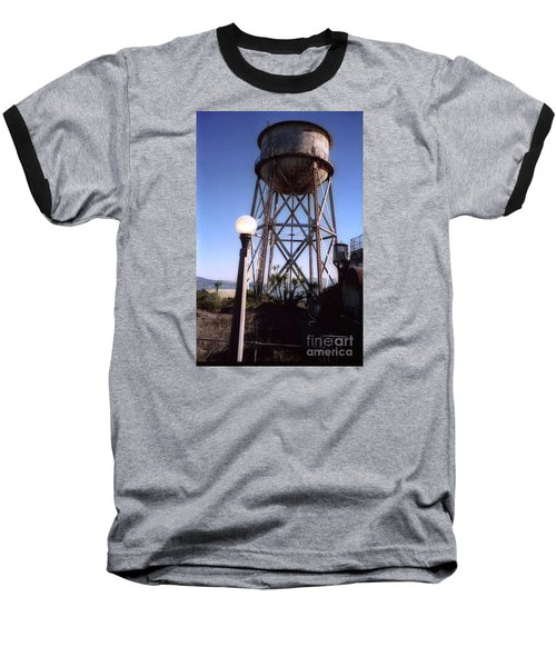 Water Tank Tower Alcartraz Baseball T-Shirt by Ted Pollard