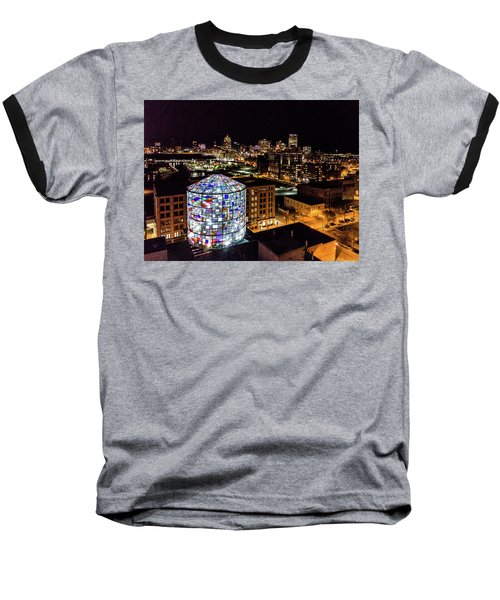 Water Tower Skyline Baseball T-Shirt