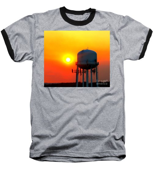 Water Tower Sunset Baseball T-Shirt