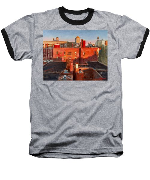 Water Towers At Sunset No. 3 Baseball T-Shirt