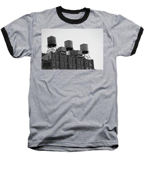 Water Towers Baseball T-Shirt