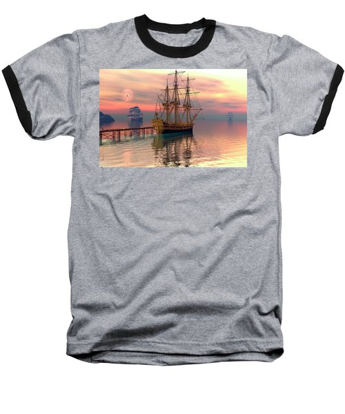 Water Traffic Baseball T-Shirt by Claude McCoy