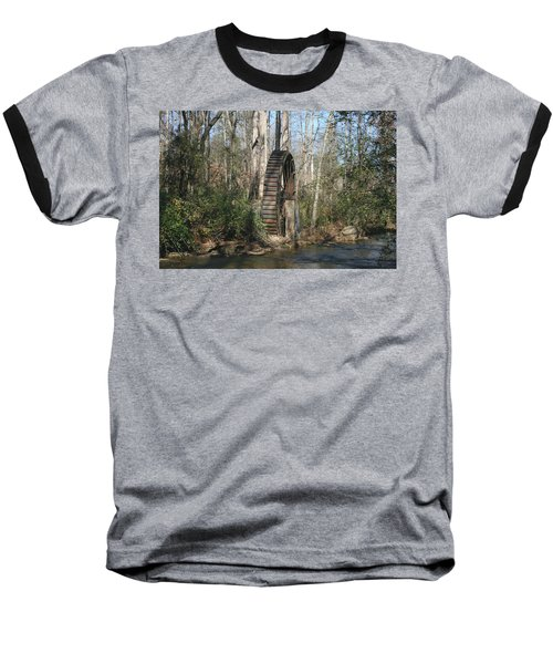 Baseball T-Shirt featuring the photograph Water Wheel by Cathy Harper