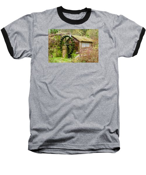 Water Wheel Baseball T-Shirt by Sean Griffin