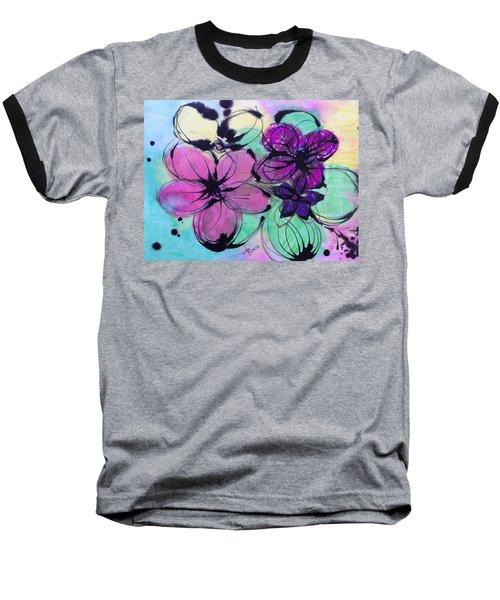 Watercolor And Ink Haiku  Baseball T-Shirt