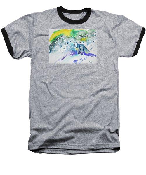 Watercolor - Arctic Fox Baseball T-Shirt
