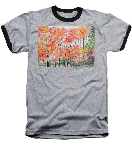 Watercolor - Autumn Forest Baseball T-Shirt