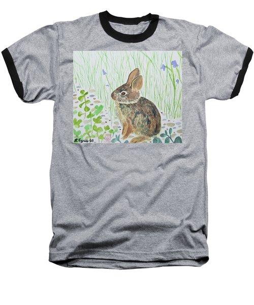 Watercolor - Baby Bunny Baseball T-Shirt