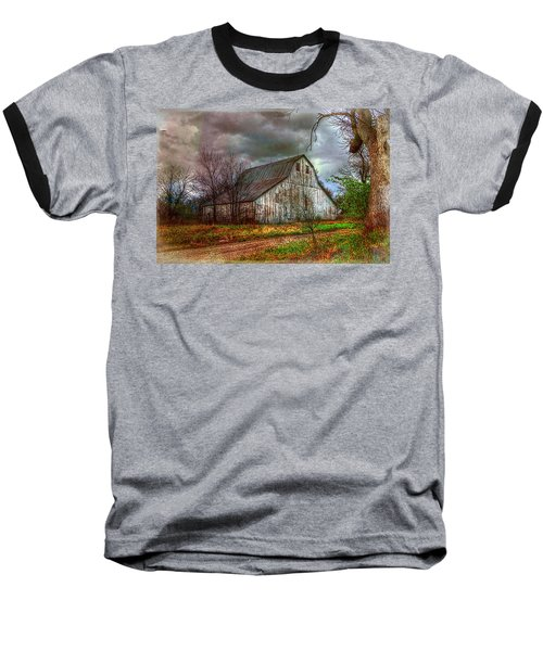 Watercolor Barn 2 Baseball T-Shirt by Karen McKenzie McAdoo