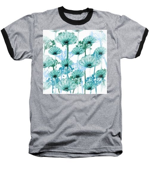 Baseball T-Shirt featuring the digital art Watercolor Dandelions by Bonnie Bruno