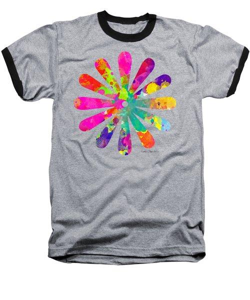 Watercolor Flower 2 - Tee Shirt Design Baseball T-Shirt by Debbie Portwood