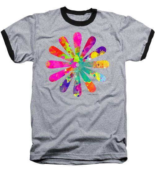 Watercolor Flower 2 - Tee Shirt Design Baseball T-Shirt