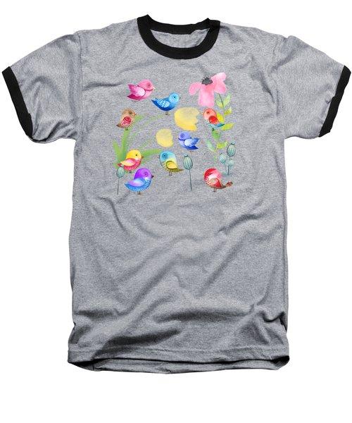 Watercolor Garden Party Baseball T-Shirt