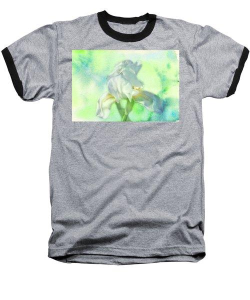 Watercolor Iris Baseball T-Shirt by Joan Bertucci