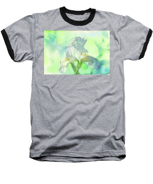 Watercolor Iris Baseball T-Shirt