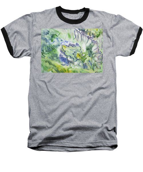 Watercolor - Leaves And Textures Of Nature Baseball T-Shirt