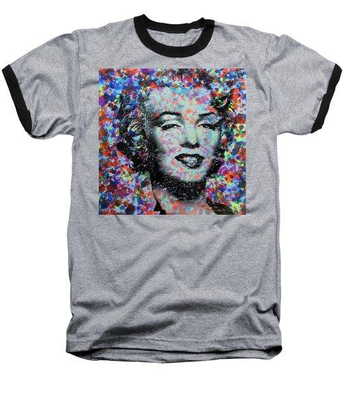 Watercolor Marilyn Baseball T-Shirt