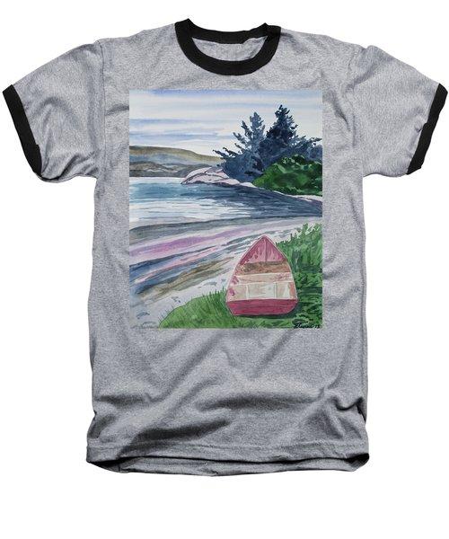 Watercolor - New Zealand Harbor Baseball T-Shirt