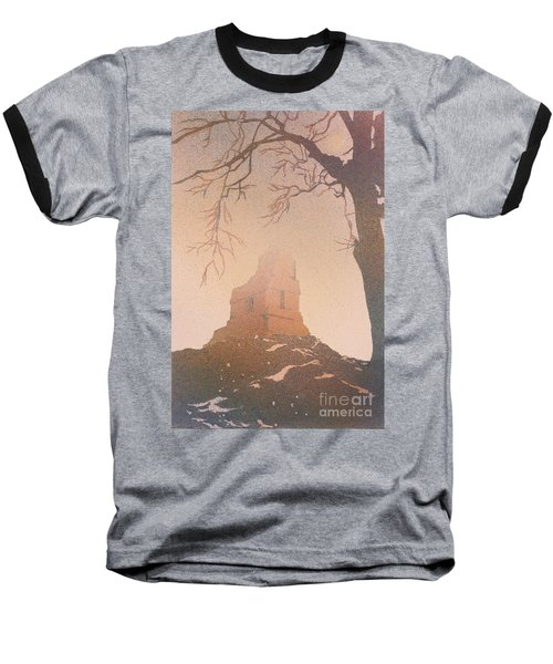 Baseball T-Shirt featuring the painting Watercolor Painting Of Mayan Temple- Tikal, Guatemala by Ryan Fox