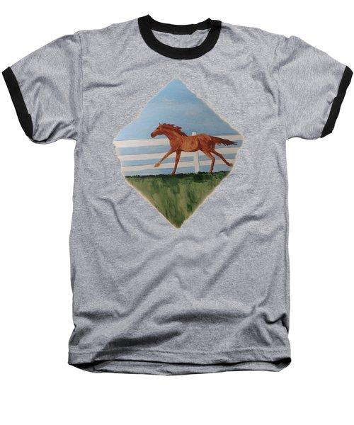 Watercolor Pony Baseball T-Shirt by Joyce Wasser